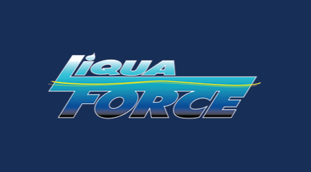 Liqua Force Logo on Dark Blue background